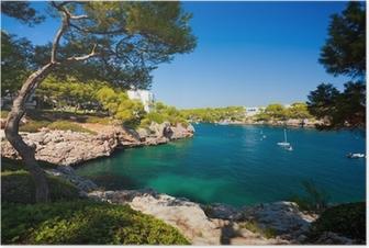 Plakat Cala d'Or bay, Mallorca øy, Spania