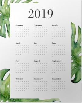 Plakat Calendario 2019 - Monstera