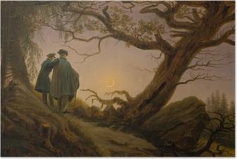 Caspar David Friedrich - Ay'yı Seyreden İki Adam Plakat
