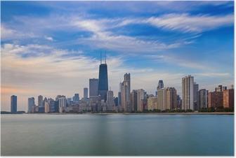 Chicago skyline Plakat