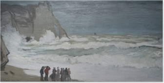Claude Monet - Rough Hav på Etretat Plakat