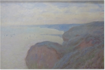 Plakat Claude Monet - Steef Cliffs nær Dieppe