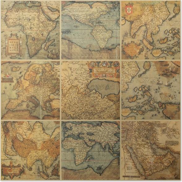 antikke kart Plakat Collage med antikke kart • Pixers®   Vi lever for forandring antikke kart
