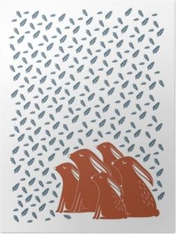 Plakat Coniglio Famiglia - Kubem Studio