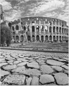 Det Majestætiske Colosseum, Rom, Italien. Plakat