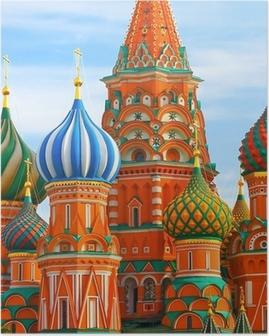 Det mest berømte sted i Moskva, Saint Basil's Cathedral, Rusland Plakat