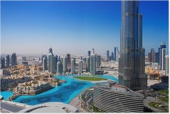 Plakat Downtown Dubai er et populært sted for shopping og sightseeing