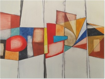 Et abstrakt akvarel maleri Plakat