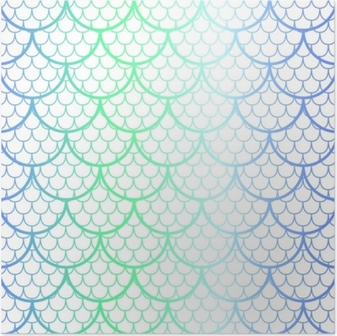 2719756a Fototapet Fantastisk fiskeskala vektor mønster. havfrue halen skala sømløs  mønster. • Pixers® - Vi lever for forandring