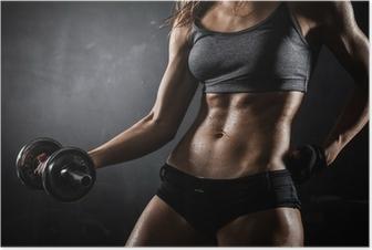 Fitness med håndvægte Plakat