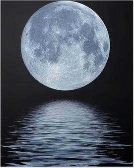 Full Moon over vand Plakat