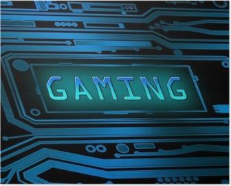Plakat Gaming konsept.