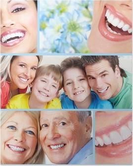 Glad mennesker smiler. Plakat