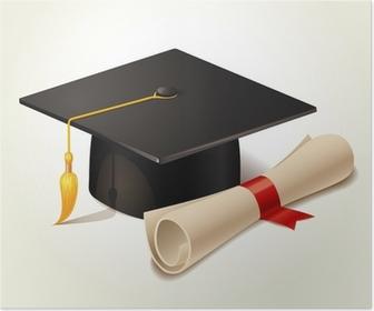 44c0b201 Graduation cap og diplom Fototapet • Pixers® - Vi lever for forandringer