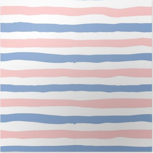 fb20d71b Plakat Grunge sømløse mønster linjer i farge 2016 rose kvarts og ro, sømløs  bakgrunn grunge rosa og blå striper, hånd tegnet vektor design for tekstil,  ...