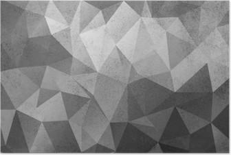 Plakat Grunge svart og hvit polygonal vintage gammel bakgrunn.