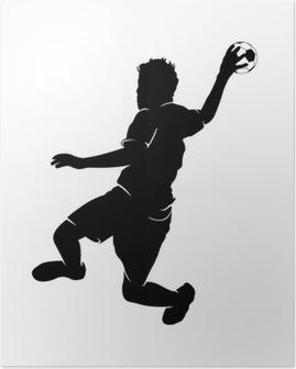 Håndboldspiller Plakat