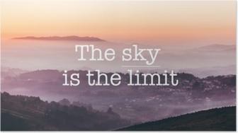 Himlen er grænsen, tåget bjerge baggrund Plakat