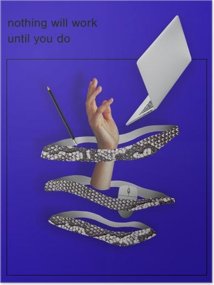 196ffc12e Plakat Ingenting vil fungere hvis ikke du gjør det.
