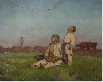 Józef Chełmoński - Leylekler Plakat