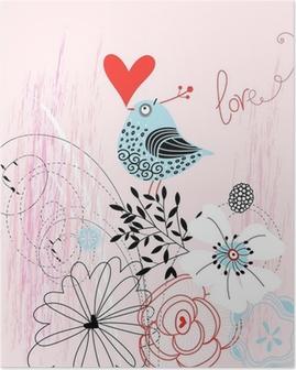 Kærlighed fugl Plakat