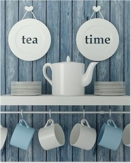 Plakat Keramisk kjøkkenutstyr på hyllen.