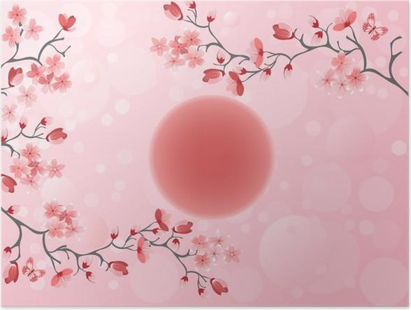 Plakat Kirsebærblomst - Japansk vår - Styles