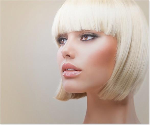 kort blondt hår