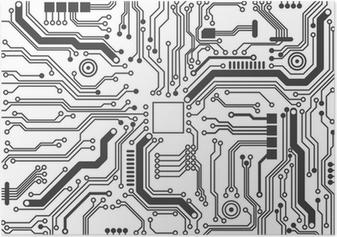 Plakat Kretskortets bakgrunnsstruktur