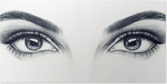 Kvinde øjne Plakat