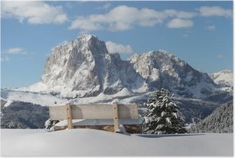 Plakat Langkofel Berg der Dolomiten