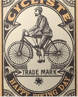Plakat Le cycliste