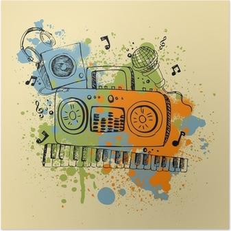 Musikalsk baggrund Plakat