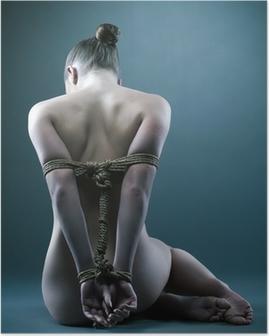 Plakat Naken kvinne med shibari i studio