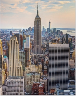 New York City i skumring Plakat