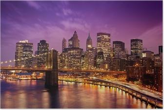 New York Manhattan Pont de Brooklyn Plakat