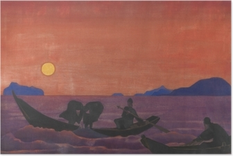 Nicholas Roerich - Balık Tutmaya Devam Plakat