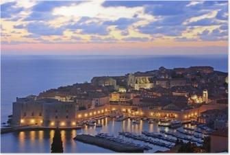 Old Harbour i Dubrovnik, Kroatien Plakat