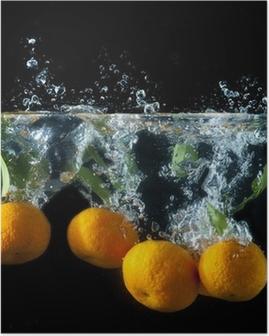 Orange splash Plakat