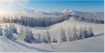Plakat Panorama over vinterfjellene