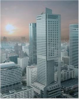 Panorama over Warszawa fra Kultur- og Videnskabspaladset. Plakat