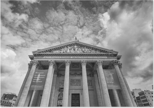 PARIS - CIRCA JUNI 2014: Pantheon udvendig udsigt. Landmar Plakat - Monumenter