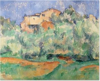 Paul Cézanne - The House på Bellevue Plakat