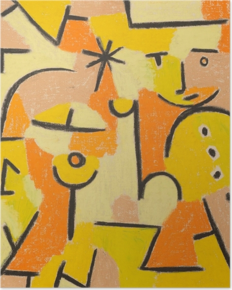 Paul Klee - Figur i gule Plakat -