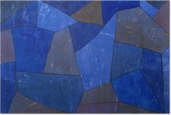 Plakat Paul Klee - Fjellet om natten