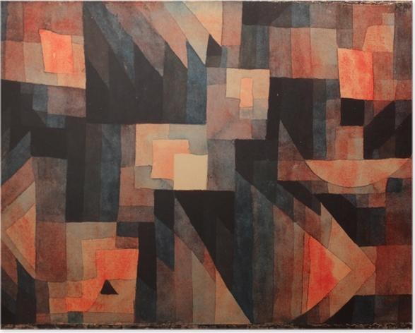 Paul Klee - Overgang, Rød-Grøn Plakat -
