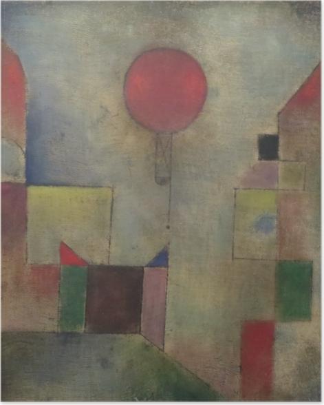 Paul Klee - Red Baloon Plakat -