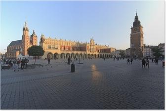 Piazza centrale di Cracovia Plakat