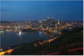 Plakat Pittsburgh, Pennsylvania, USA