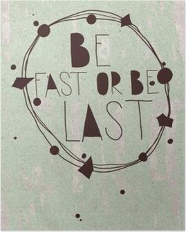 Plakat med håndskrevet citat, succes, grunge Plakat
